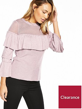 v-by-very-mesh-frill-tiered-sleeve-jumper
