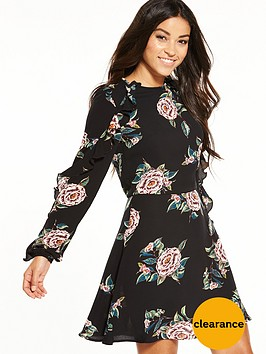 ax-paris-frill-floral-dress