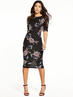 ax-paris-bodycon-floral-midi-dress