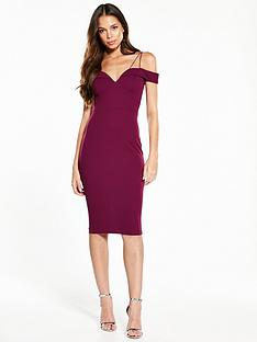 ax-paris-bardot-strappy-midi-dress-plum