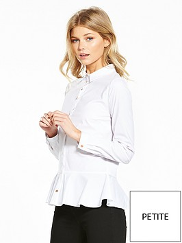 v-by-very-petite-peplum-poplin-shirt-white