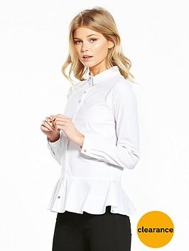 v-by-very-petite-peplum-poplin-shirt-white