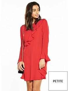v-by-very-petite-frill-detail-tea-dress