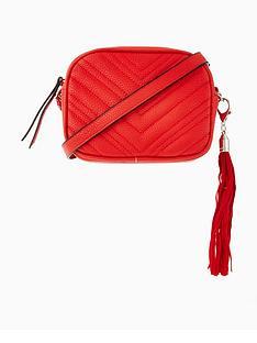 miss-selfridge-red-quilt-cross-body-bag