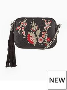miss-selfridge-miss-selfridge-black-embroidered-cross-body-bag