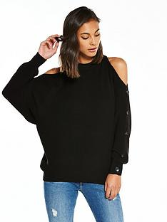 river-island-black-jumper-with-buttons