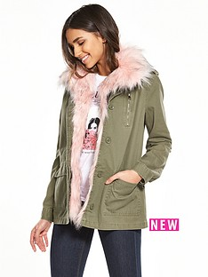 river-island-khaki-faux-fur-army-jacket