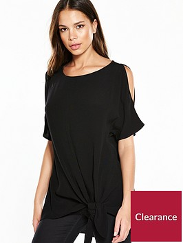 river-island-black-knot-tee