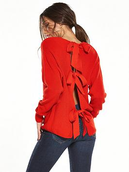 river-island-bow-back-tie-jumper