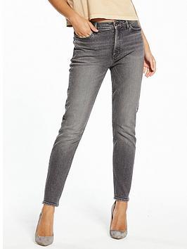 Calvin Klein Jeans High Rise Slim Jean - Cavern