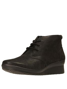 clarks-caddell-hop-lace-up-low-wedge-ankle-boot-black