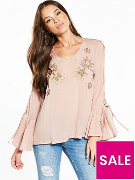 river-island-pink-embroidered-top