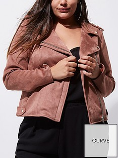 ri-plus-dark-pink-suedette-biker-jacket