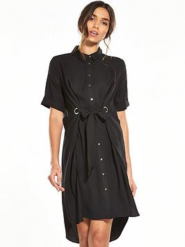 river-island-black-eyelet-shirt-dress