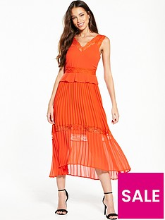 river-island-orange-midi-dress