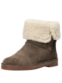Clarks Clarks Drafty Haze Faux Fur Warm Flat Boot