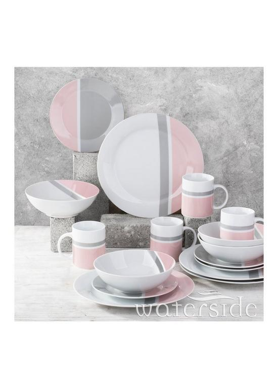 sc 1 st  Very & WATERSIDE 16PC Pink u0026 Grey Dinner Set | very.co.uk