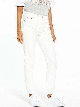 Tommy Jeans High Rise Slim Izzy Jean - Valencia White Comfort