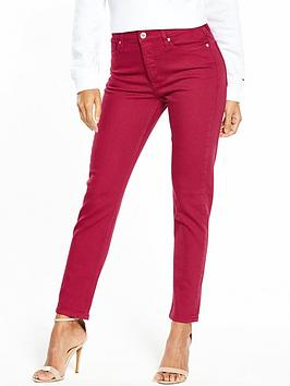 Tommy Jeans High Rise Slim Izzy Jean - Valencia Persian Red