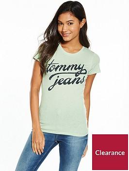 tommy-jeans-tjw-cottonnbspshort-sleeve-t-shirt-aqua-foam