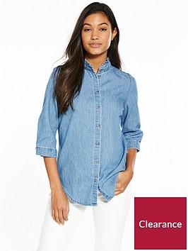 tommy-jeans-tjw-rufflenbspthree-quarter-shirt