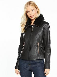 ted-baker-tamri-shearling-collar-leather-jacket