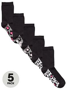 v-by-very-5-pack-leopard-ankle-sock
