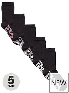 very-v-by-very-5-pack-leopard-ankle-sock