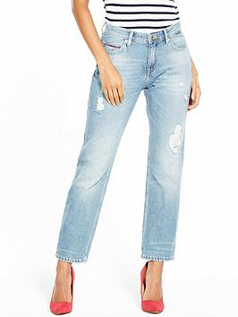 Tommy Jeans Regular Rise Straight Leg Lana Jean - Light Blue