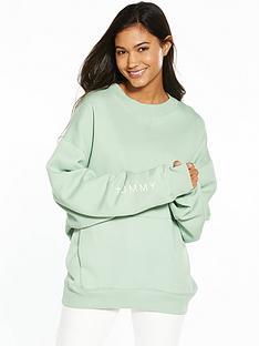 tommy-jeans-tjw-cottonnbsplong-sleeve-knit-aqua-foam