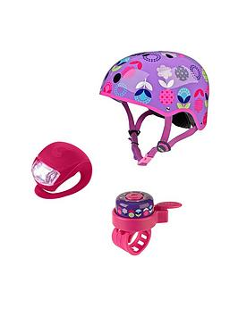 micro-scooter-floral-dot-helmet-bell-amp-light-safety-set-medium