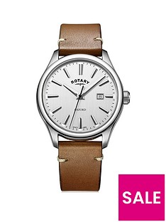 rotary-rotary-oxford-silver-brushed-dial-tan-strap-mens-watch