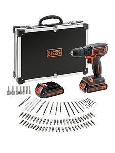 black-decker-black-amp-decker-18v-drill-driver-2-batteries-80-accessories-and-flight-case