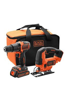 black-decker-18vnbsphammer-drill-18vnbspjigsaw-battery-charger-amp-storage-bag