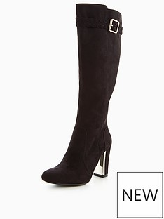 v-by-very-taurus-plaited-gold-heel-knee-boot-black