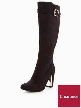 v-by-very-taurus-plaited-gold-heel-knee-boot-black