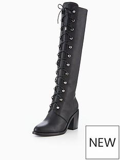 v-by-very-natalia-lace-up-military-knee-boot-black