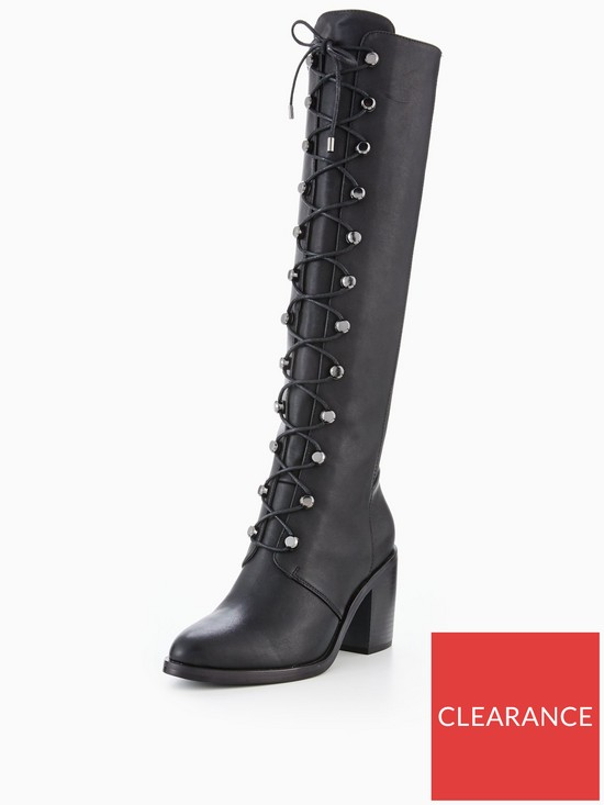 31ca12037f3 V by Very Natalia Lace Up Military Knee Boot