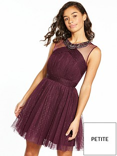 little-mistress-petite-tule-mini-dress