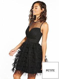 little-mistress-petite-mesh-layered-mini-dress-black