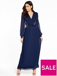 little-mistress-long-sleeve-maxi-dress-navy