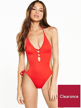 river-island-plunge-lace-up-swimsuit