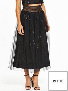 little-mistress-petite-embellished-skirt-black