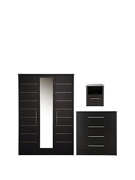 Consort Liberty 3-Piece Package - 3 Door Wardrobe, 4 Drawer Chest And Bedside Chest thumbnail