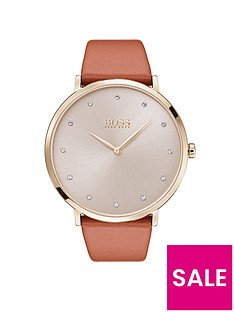 boss-jilliannbspsilver-dial-brown-leather-strap-ladies-watch