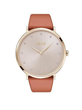 hugo-boss-black-jilliannbspsilver-dial-brown-leather-strap-ladies-watch