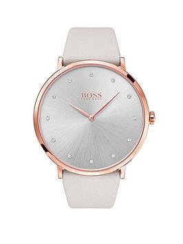 boss-jillian-pearl-dial-leather-strap-ladies-watch