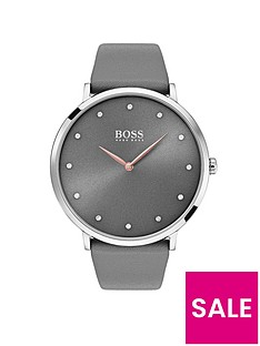 boss-jilliannbspgrey-dial-grey-leather-strap-ladies-watch