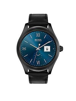 hugo-boss-black-blue-dial-black-strap-mens-touch-smart-watch