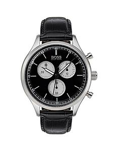 boss-companion-black-dial-black-leather-strap-mensnbspwatch